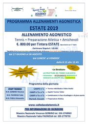 Stage AGONISTICA Estate 2019 AOSTA